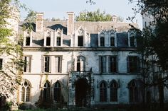 Abandoned castle - the photographer posted there was still an old piano and a gorgeous rose window on the first floor.