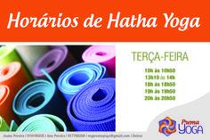 HORÁRIOS DE HATHA YOGA À TERÇA-FEIRA