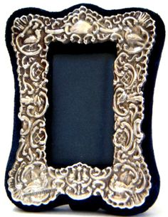 Vintage Ornate Sterling Silver Picture Frame