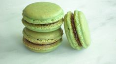 French Macaron Cookies 12 Pistachio Fig Macaroons Gift Splendid Sweet. $21.00, via Etsy.