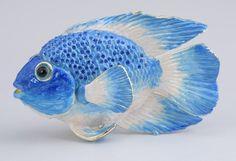 Large Fish Trinket box by Keren Kopal Austrian Crystal Jewelry box Faberge picclick.com