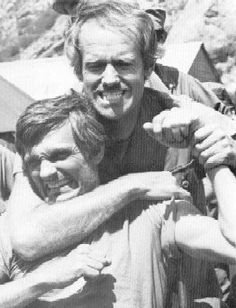 Hawkeye and BJ. M*A*S*H - One of the best shows ever on TV...just saying :-)
