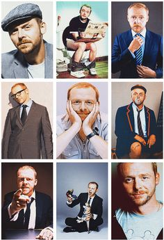 Simon Pegg -luv everything he's in,so funny, cute & a sexy red head! 1 of my faves Geek Humor, Funny Geek, Simon Pegg, British Humor, Ginger Men, Dapper Gentleman, British Men, Gorgeous Men, Beautiful