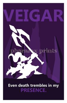 Veigar League of Legends Print by Pharafax on Etsy  I love all these minimalistic prints, but this guy is the cutest.