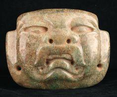 Olmec Jade Maskette Pectoral - CK.0738 Origin: Mesoamerica Circa: 1200 BC to 500 BC