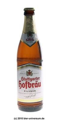 Stuttgarter hofbräu, German beer 4.9% 6/10 Pilsner.