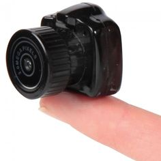 The camera is made only to suit your needs for small stuff. It was made by an American Company called Hammacher Schlememr, the camera is really scaled-down and the size can be compared with the tip of your finger you use to take pictures.