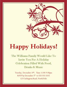 Invitation Template Word Adorable 199 Best Christmas Party Invitation Images On Pinterest  Holiday .