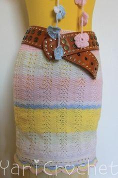 Falda y collar crochet