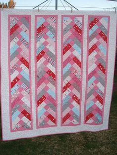 Sherbet Pips french braid quilt, via Flickr.