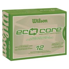 You can be eco-frienly and still have fun! Like with these Wilson (R) Eco Core Golf Balls - Made with recycled tire rubber core.