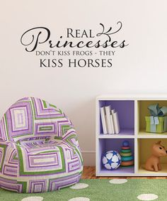 'Real Princesses' Wall Quote by W by Belvedere Designs on