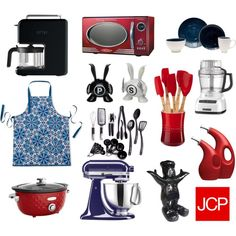 """""""Spice It Up"""" by jcpenney on @Polyvore...LOVE my red kitchen accessories!"""