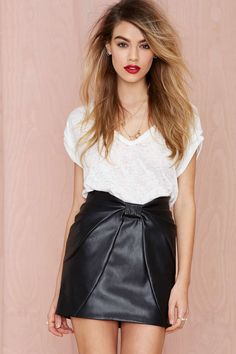 Nasty Gal Ready or Knot Skirt