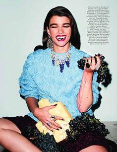 its-a-fab-world:  Festin Crystal Renn for Vogue Paris October...