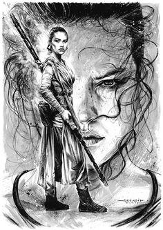 """Illustration - Star Wars fan art by Drumond Art""""Star Wars... #LoveArt - #Art #LoveArt http://wp.me/p6qjkV-90Q"""