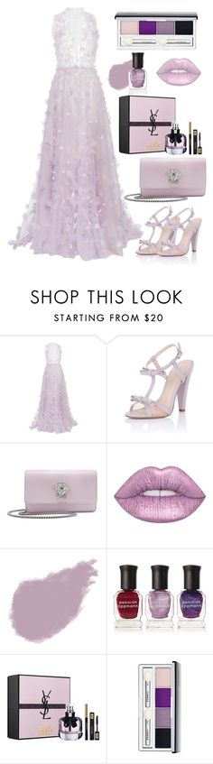 """108"" by tasneemkm ❤ liked on Polyvore featuring LUISA BECCARIA, Paper Dolls, Versace, Lime Crime, Bobbi Brown Cosmetics, Deborah Lippmann, Yves Saint Laurent and Clinique"