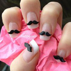10 x Black Moustache 3D Nail Art Decoration for by Hailthenails, £2.25