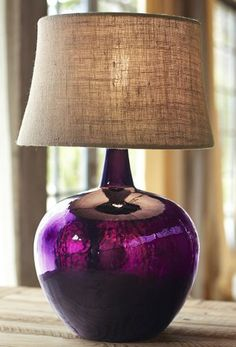 eggplant #purple glass lamp http://rstyle.me/n/izjymr9te
