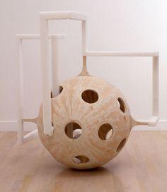 """Binocular Parallax"", 1992, Erik Levine, American (b. 1960), plywood, styrofoam and polyurethane foam, 171 x 146 in.   Gift of Bernd and Verena Kluser, 1998. 1998.52"