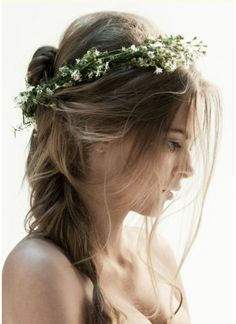 fairy princess :) love (if i get married ill have this complete hair style with the flowers and a woodsy wedding) soooo beautiful!!!!