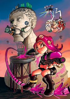 Octo expansion: Pearl: Let's go agent You got thiiiis! Marina: Calm down Pearl. Splatoon Games, Splatoon 2 Art, Splatoon Comics, Super Smash Bros, Super Mario Bros, Otaku, Nintendo Characters, Minions, Fanart