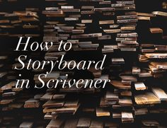 Ready to storyboard your novel? Scrivener's corkboard view provides the perfect interface to storyboard your novel digitally.