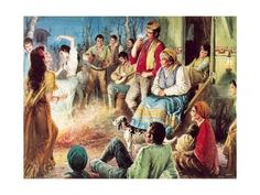 Giclee Print: Gypsies Partying Art Print by English School : 24x18in