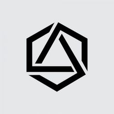 Geometric Tattoo - Hexagon - Symetry and Geometry - Tattoo Hexagon Tattoo, Hexagon Logo, Hexagon Shape, Geometric Tatto, Geometric Designs, Logo Design, Icon Design, Graphic Design, Logo Shapes