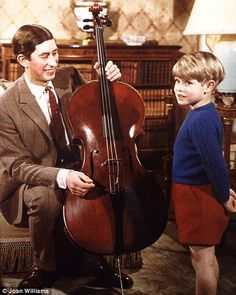 Prince Charles and Prince Edward. And a cello.