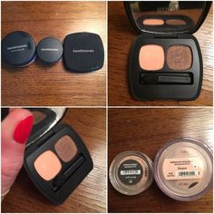BareMinerals well rested, bisque & shadow duo Cult favorite under eye brightening powder well rested, mini. Concealer in brightening bisque shade, full size. Ready shadow 2.0 in the Guilty Pleasures featuring a matte peach perfect for warming up the crease and a warm brown with a hint of sparkle for the outer corner, full size. All products used a few times each but all have 90% of product remaining. bareMinerals Makeup