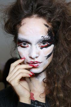 makeup @ Vivienne Westwood Spring 2014