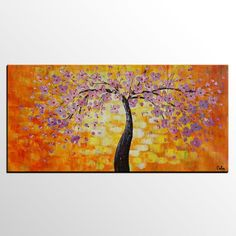 Floral Painting, Flower Tree Painting, Abstract Painting, Canvas Art, Impasto Art Tree Of Life Painting, Tree Of Life Art, Hand Painting Art, Painting Abstract, Painting Canvas, Canvas Wall Art, Large Painting, Canvas Paintings For Sale, Oil Paintings