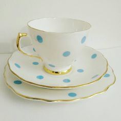 Newly listed in my Etsy shop tonight - gorgeous 1940s Royal Vale blue polkadot china trio 😍  Available now at https://www.etsy.com/uk/listing/498780944/vintage-40s-royal-vale-china-trio-teacup or click the link in my bio for more vintage loveliness  #polkadots #polkadot #dotty #spots #40s #1940s #forties #vintage #retro #vintagechina #bonechina #china #teacup #saucer #trio #cupandsaucer #afternoontea #teaparty…