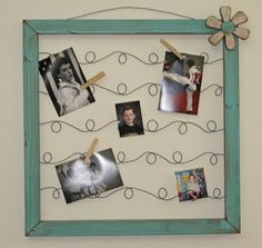 Clothes Pin Crafts Photo Chicken Wire 18 Ideas For 2019 Wire Picture Frames, Wire Picture Holders, Picture Frame Crafts, Wire Frame, Diy Projects To Try, Crafts To Make, Fun Crafts, Craft Projects, Cadre Photo Diy