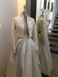 Hand painted barong from Kultura. Modern Filipiniana Gown, Filipiniana Wedding Theme, Grad Dresses, Formal Dresses, Filipino Fashion, Gowns With Sleeves, Couture Dresses, Occasion Dresses, Beautiful Outfits