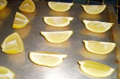 Freeze lemons, limes, and oranges this way.  No more wasted produce.