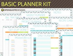 This basic kit for your planner comes with the 10 crucial sheets you need to get your life organised!  It comes in standard A4 size, and can be