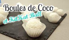 Une recette délicieuse qui ne nécessite aucun matériel et pas de four ;) Boules de Coco et KitKat Ball