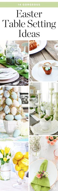 5 Gorgeous Easter Table Setting Ideas #purewow #easter #decor #home
