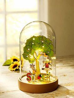 """LED-Glaskuppel """"4 Jahreszeiten"""""""