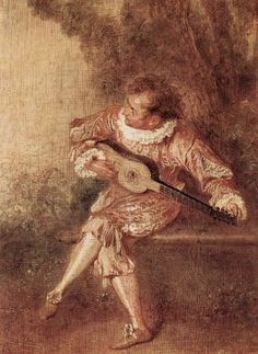 1715 Le donneur de sérénades by Jean Antoine Watteau Jean Antoine Watteau, Guitar Painting, Art Database, Oil Painting Reproductions, Artist Art, Art And Architecture, Art History, Pop Art, Canvas Art