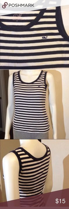 🔥HOT SALE🔥vineyard Vines Vineyard Vines Striped Tank Top Navy Blue and White sleeveless comfy top   #holiday #christmas #party #coldweather #winter #fun #preppy #casual #cocktail #womens #boutique #fashion #model #style #runway #trends Vineyard Vines Tops
