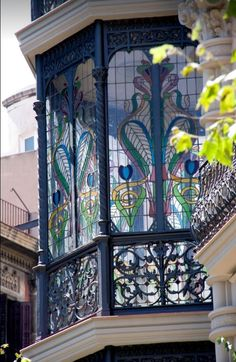 Stained Glass Window | Barcelona Source and credit…