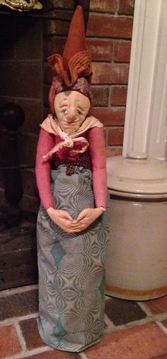 Vintage Seymour Mann Cloth Doll Old Lady Witch Maid Pajama Hugger Stump Boudoir #DollswithClothingAccessories