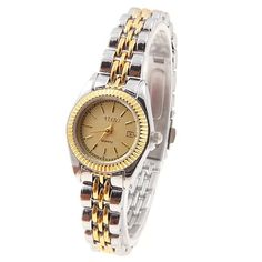 5.79$  Buy now - http://diuih.justgood.pw/go.php?t=WW0137101 - YiShi Women's Watches with Quartz Analog Golden Round Shaped Dial Steel Watchband 5.79$
