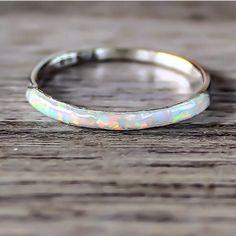 Mermaid White Opal Ring | Bohemian Jewelry | Indie and Harper