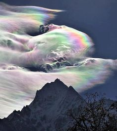 Psychedelic rainbow over Mount Everest.