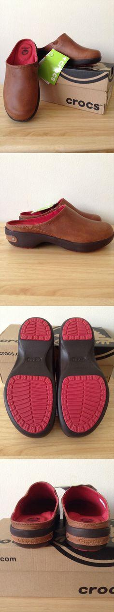 Occupational 53548: Crocs Cobbler 2.0 Leather Clog, Cinnamon Mahogany, Women S, W 5 Us Nwb -> BUY IT NOW ONLY: $39.99 on eBay!