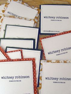 Sewn Business Cards | Freshly Given More and more people are asking me about my…